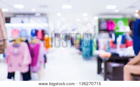 Store blur background with bokeh light,use for background
