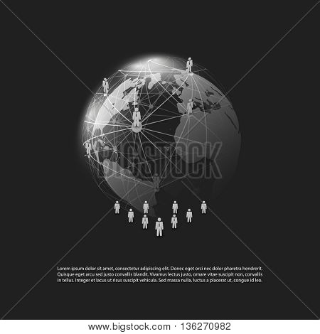 Cloud Computing and Networks Concept - Social Media, Business Connections