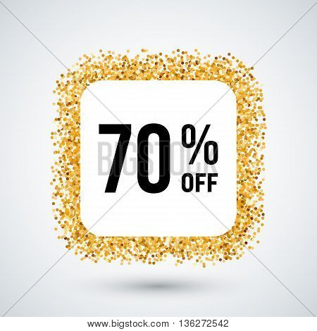 Golden Frame with Discount Seventy Percent for Design