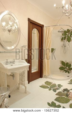 a part of interior of bathroom