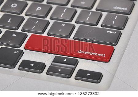 The Computer Keyboard Button Written Word Developement