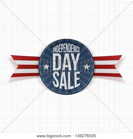 Independence Day Sale circle Label. Vector Illustration
