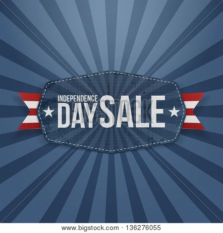 Independence Day Sale paper Badge. Vector Illustration