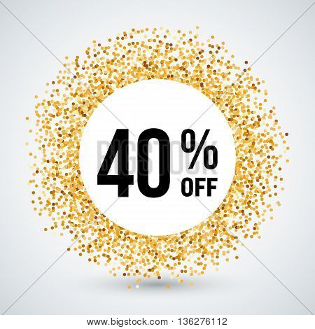 Golden Circle Frame with Discount Forty Percent