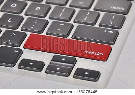 Keyboard  Button Written Word Meal Plan