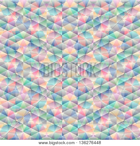 Colorful vector mosaic banner. Geometric mosaic seamless pattern.