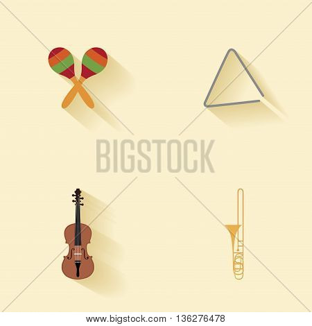 abstract music instruments on a special background