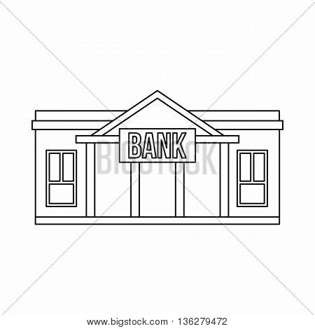 Bank icon in outline style isolated on white background