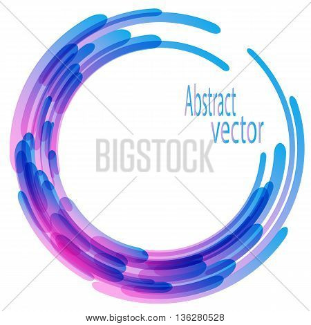 Abstract retro technology circles vector background, pink and blue
