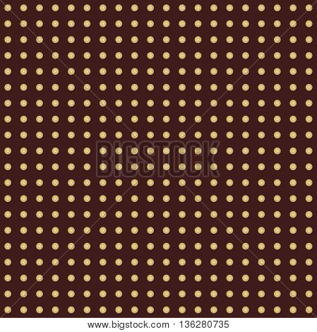 Seamless geometric vector pattern. Modern ornament with dotted elements. Brown and golden pattern