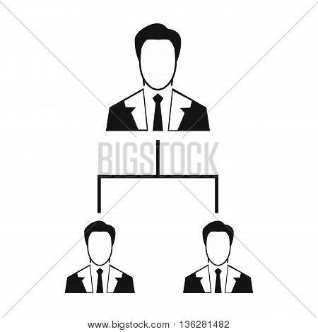 Company structure icon in simple style isolated on white background