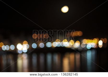 reflection of light by night gives a harmonic background