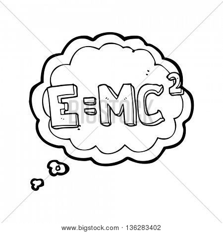 freehand drawn thought bubble cartoon science formula