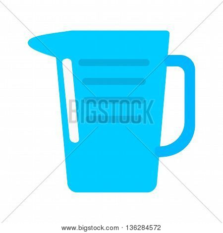 Pitcher, drink, jug icon vector image. Can also be used for kitchen. Suitable for use on web apps, mobile apps and print media.