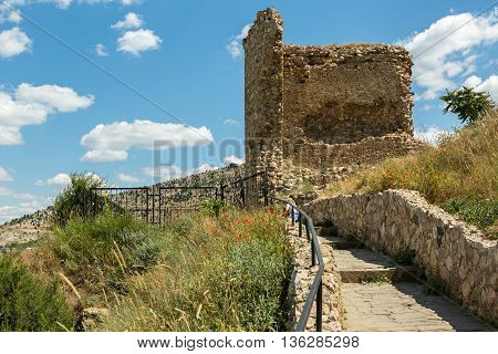 Genoese fortress Cembalo built beginning in 1357. Balaklava in Crimea.