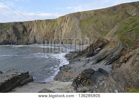 Folded Rock Strata of Broad Beach Hartland Quay Bideford Devon