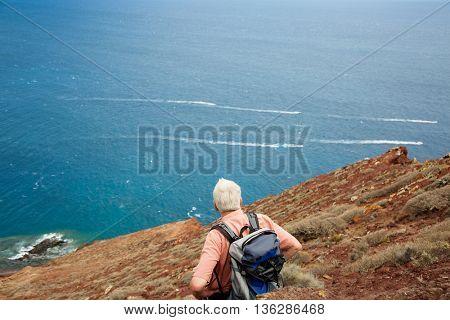 Mature traveler