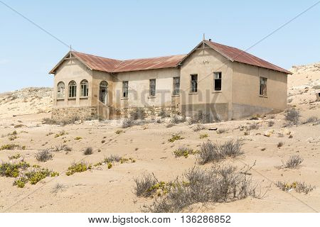 Namibia, Kolmanskop - September, 14. 2014: Ghost Town