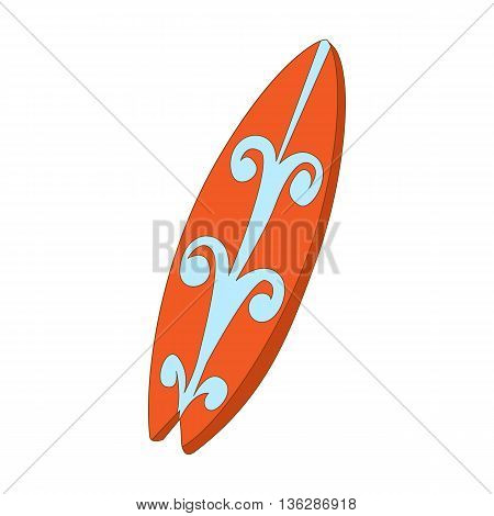 Surfboard icon in cartoon style isolated on white background. Sports and equipment symbol