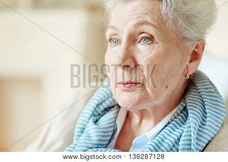 Calm senior woman