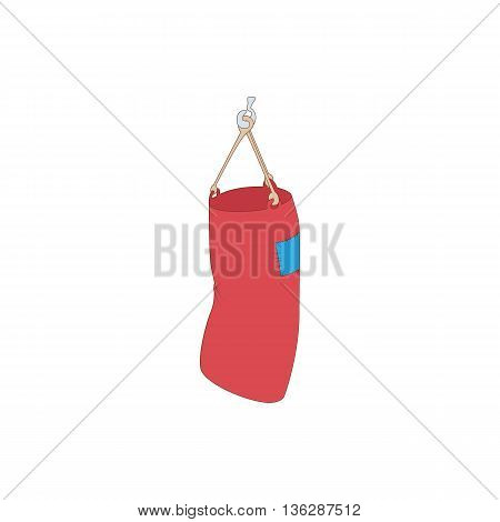 Punching bag icon in cartoon style isolated on white background. Training and competition symbol