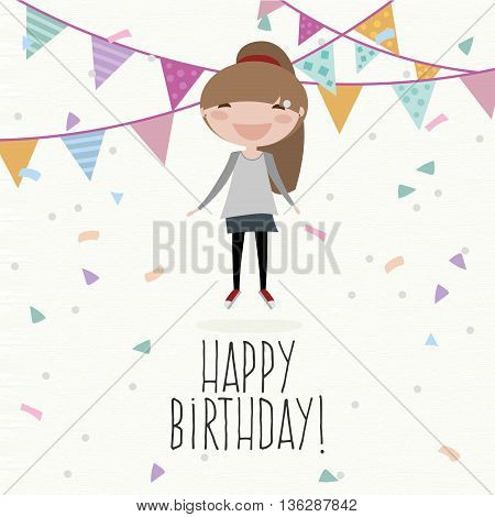 abstract happy birthday background with some special objects