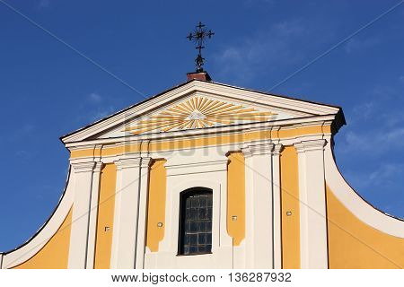 Front of the catholic church of the of the late eighteenth century