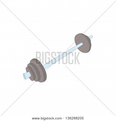 Rod icon in cartoon style isolated on white background. Sport symbol