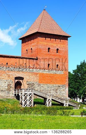 Citadel of the fourteenth century with ramparts side gate and watchtower