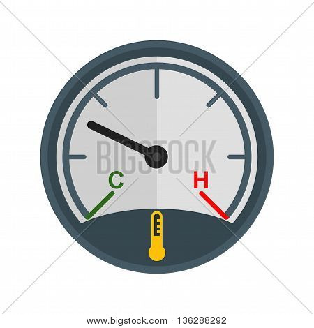 Car, temperature, engine icon vector image. Can also be used for car servicing. Suitable for use on web apps, mobile apps and print media.