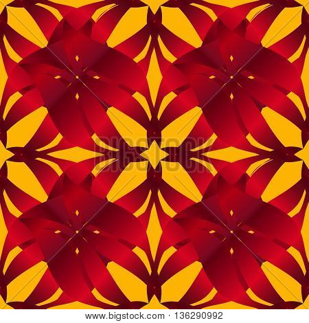 seamless pattern background with yellow lilac red and orange flowers