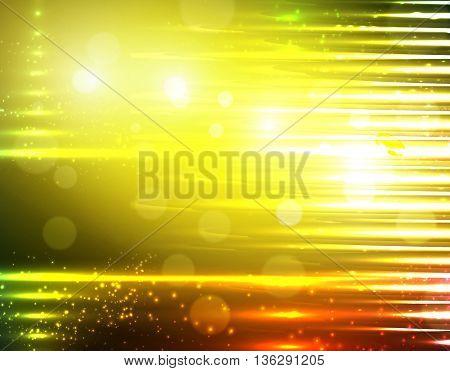 Golden Yellow blurry glowing light background design
