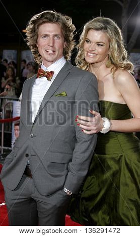 Josh Meyers and Missi Pyle at the Los Angeles premiere of 'Just My Luck' held at the Mann National Theater in Westwood, USA on May 9, 2006.