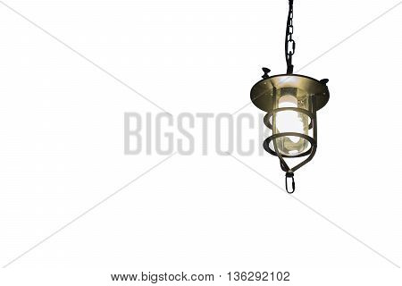 vintage lamp decorative on white as background