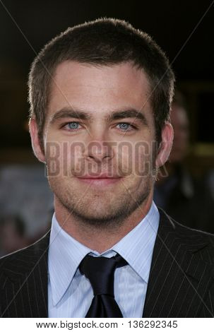 Chris Pine at the Los Angeles premiere of 'Just My Luck' held at the Mann National Theater in Westwood, USA on May 9, 2006.