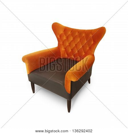 Luxurious armchair isolate on white as background