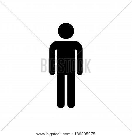 One man person pictogram. Vector symbol icon.