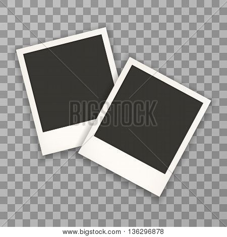 Two Photo Frame Retro . Photo Frame Isolated On A Background. Photo Frame Mock Up. Photo Frame Borde