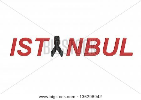 Istanbul Turkey attacks concept 3D rendering