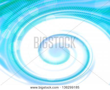 Blue light psychedelic spiral design background illustration