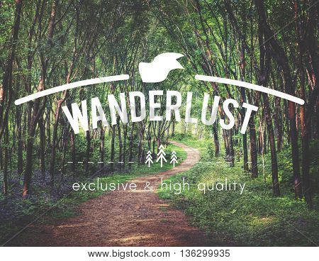 Countryside Thoughts Wanderlust Adventure Graphic Concept