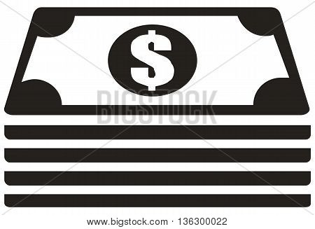 Cash Stack Icon computer icon symbol wealth paper currency currency
