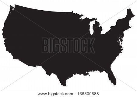 usa computer icon symbol map the americas vector