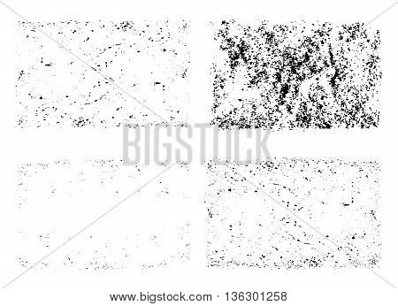 Grunge Textures Unique Vector Set Template