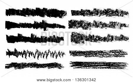 Vector Hand Drawn Collection Artistic Of Charcoal