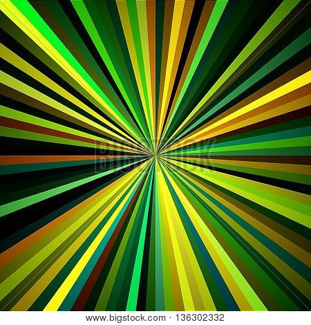 art abstract graphic spherical colored blurred background in green, gold and brown colors; geometric pattern