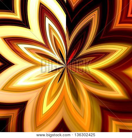 art abstract graphic spherical monochrome blurred background in orange, red, gold, brown and white colors; geometric pattern