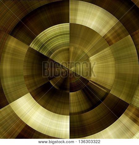 art abstract graphic spherical monochrome grunge background in old gold, olive, brown and white colors; geometric pattern
