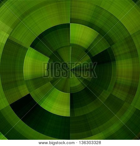 art abstract graphic spherical monochrome grunge background in green and black colors; geometric pattern