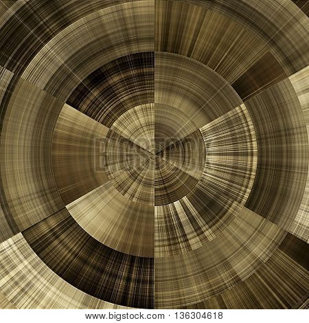 art abstract graphic spherical monochrome grunge background in old gold, brown and white colors; geometric pattern